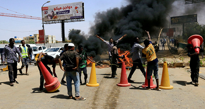 protestation au Soudan