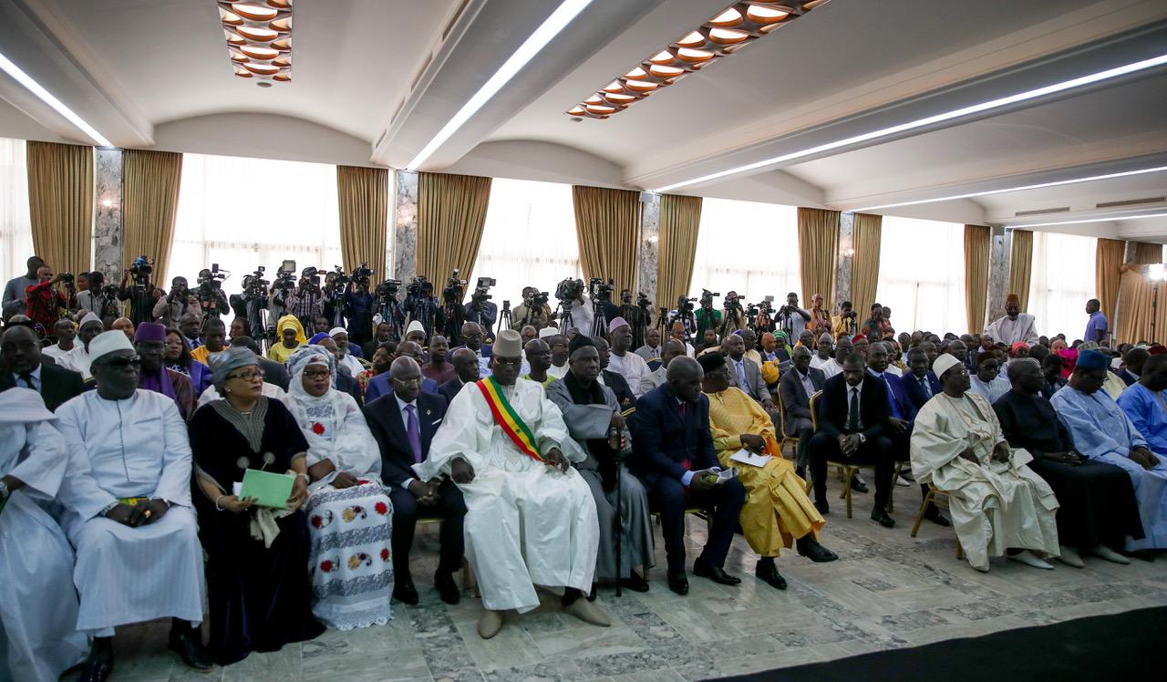 Vue de participants à la cérémonie du dialogue national du Sénégal le 28 mai 2019 à Dakar. © Présidence du Sénégal