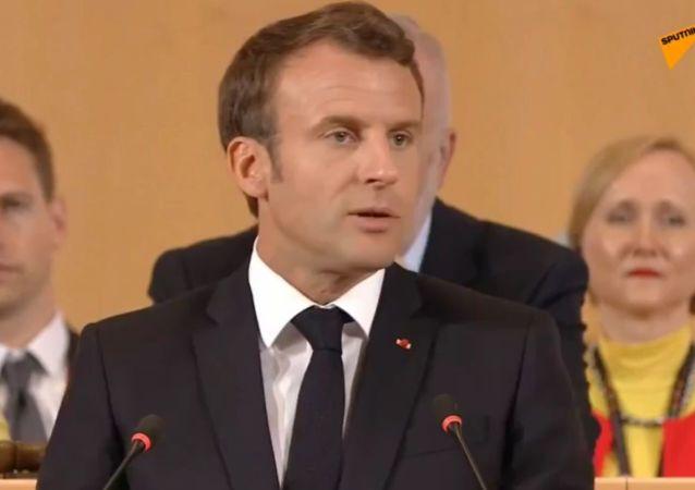 Emmanuel Macron à Genève pour les 100 ans de l'Organisation internationale du travail