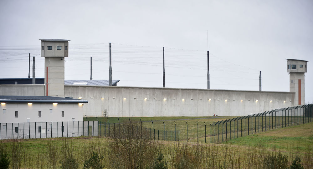 (FILES) This file photo taken on March 6, 2019 shows the penitentiary center of Alencon, in Conde-sur-Sarthe, northwestern France. - An hostage situation happens late on June 11, 2019 in the penitentiary center of Alencon, in Conde-sur-Sarthe. (Photo by JEAN-FRANCOIS MONIER / AFP)