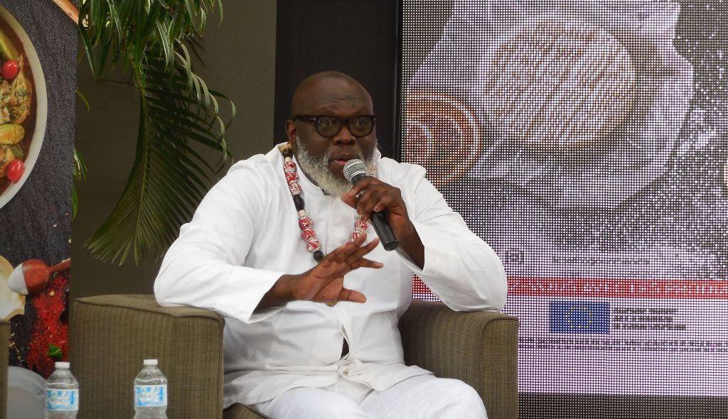 Christian Abégan lors de la campagne AfroGourmand à Dakar