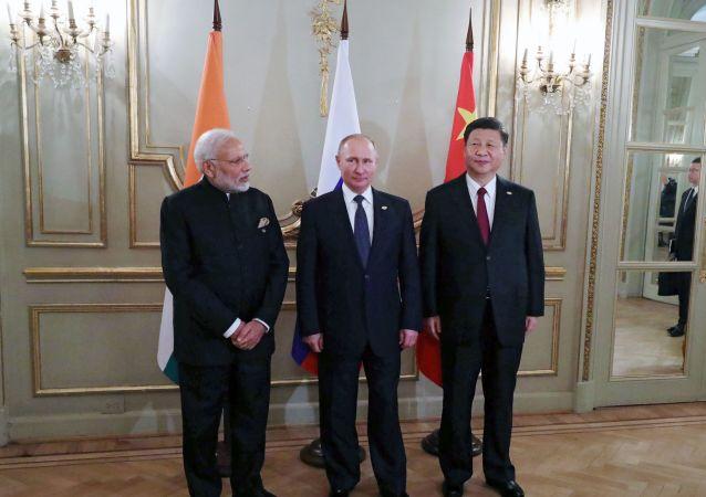 Les dirigeants indien, russe et chinois
