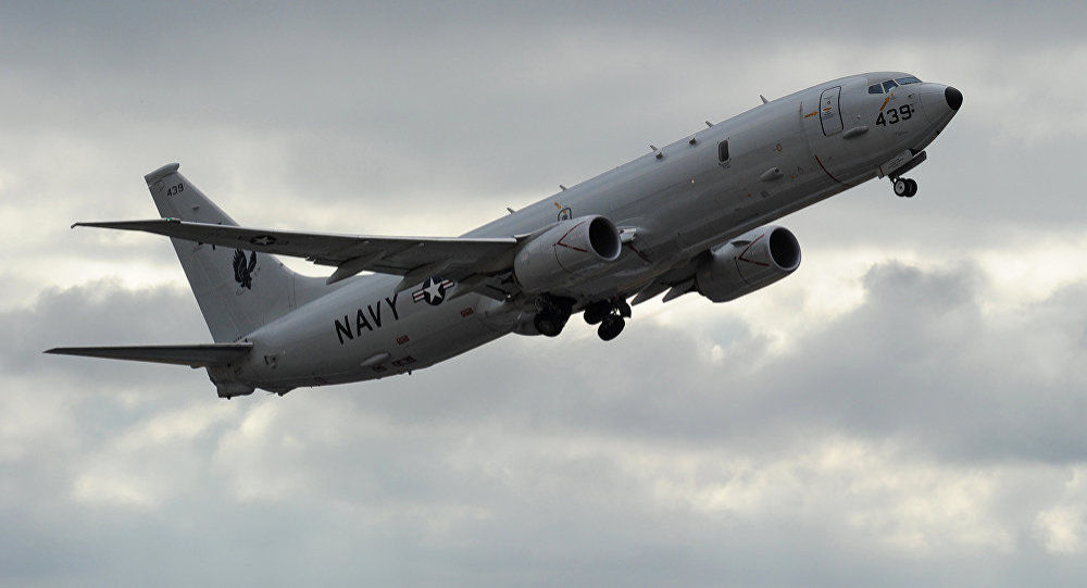 US Navy P-8 Poseidon aircraft