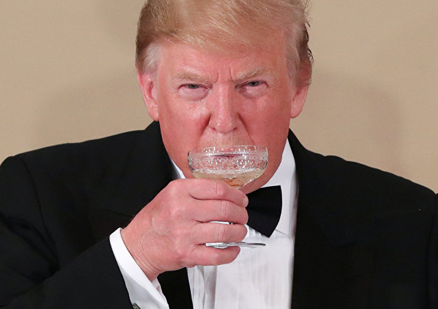 Donald Trump lors d'une soirée au Palais impérial à Tokyo, au Japan le 27 mai 2019.