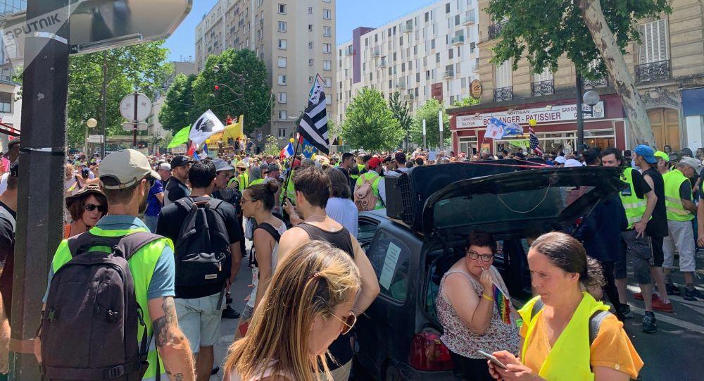 Gilets jaunes, Porte de Clichy, acte 33, 29 juin 2019