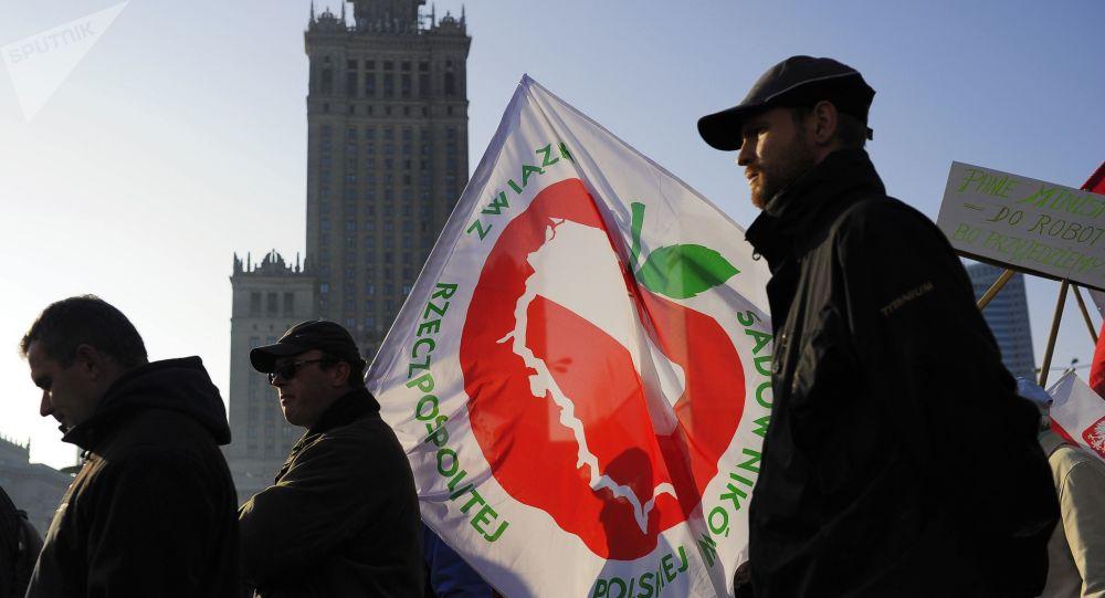 Protestation de fermiers polonais, archives