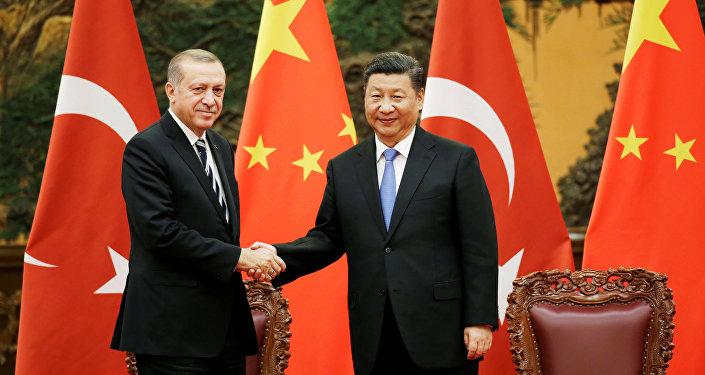 Recep Tayyip Erdogan et Xi Jinping (archive photo)