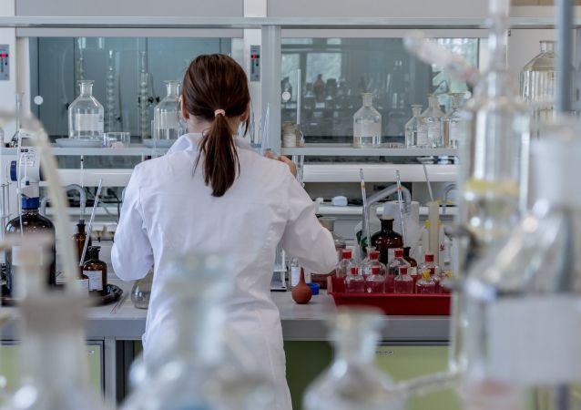 Dans une laboratoire