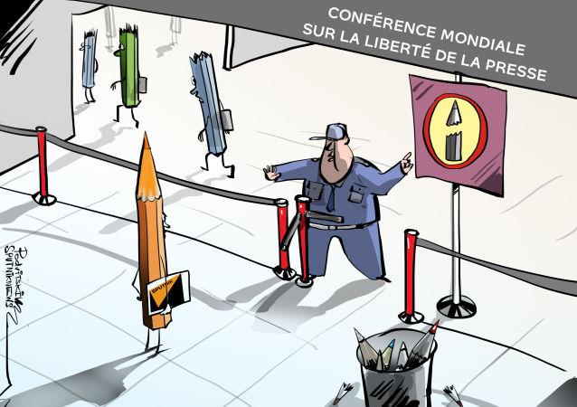 Le refus d'accréditer des journalistes de Sputnik et de RT à la Conférence mondiale sur la liberté de la presse