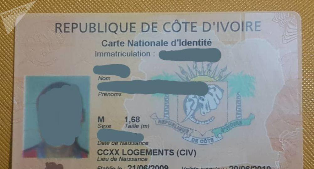 Un aperçu de l'actuelle carte d'identité ivoirienne