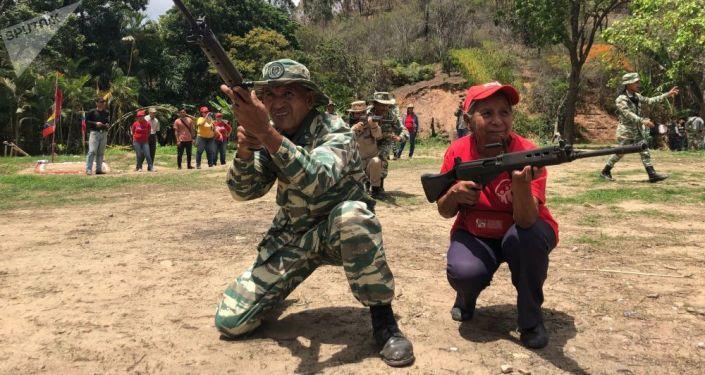 Des Vénézuéliens armés (archive photo)
