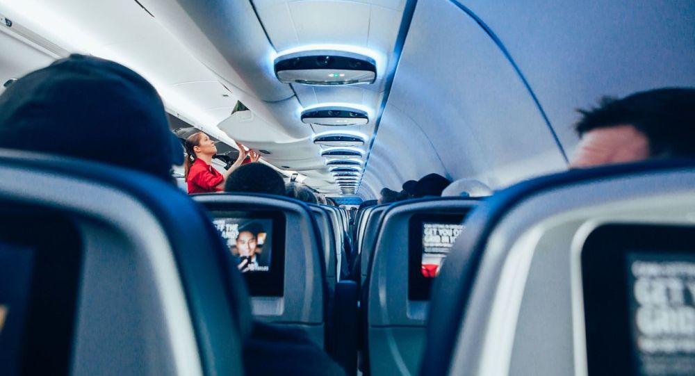 Cabine d'avion de ligne