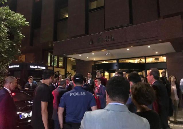 L'hôpital Guven où a été amené le conseiller à l'ambassade de Biélorussie en Turquie Alexandre Poganshev grièvement blessé ce mercredi à Ankara