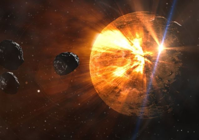 Des astéroïdes (image d'illlustration)