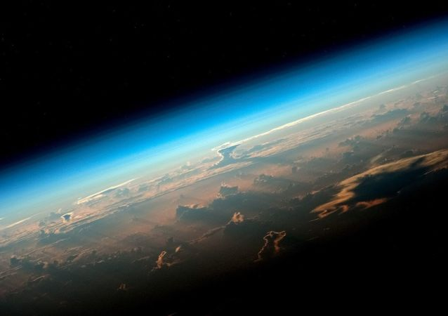 View of Earth from an ISS board