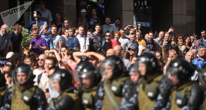 Un rassemblement non autorisé à Moscou