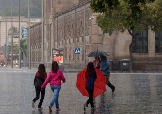 Une pluie à Barcelone (archive photo)