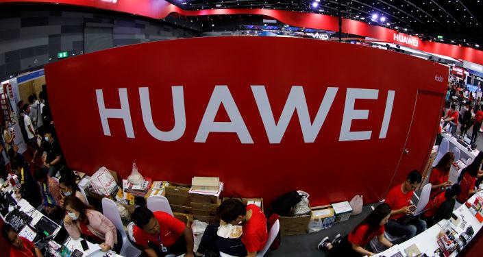 Un stand de Huawei