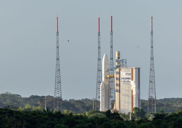 Lancement d'une fusée Ariane 5, archives