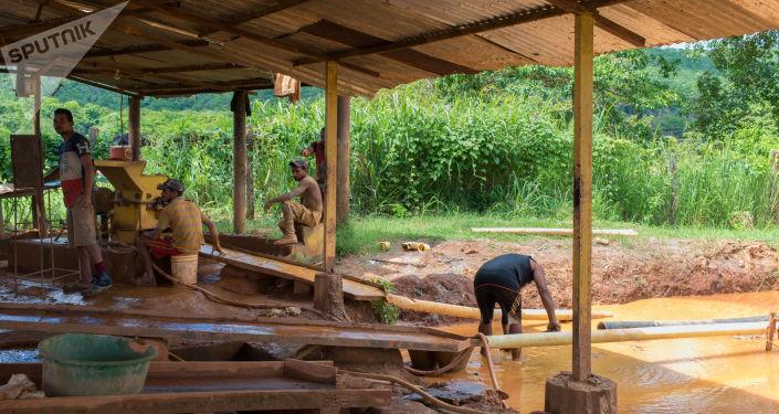 Extracción de oro en El Callao, Venezuela