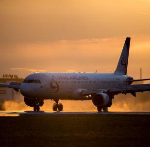 Airbus A321 der russischen Fluggesellschaft Ural Airlines