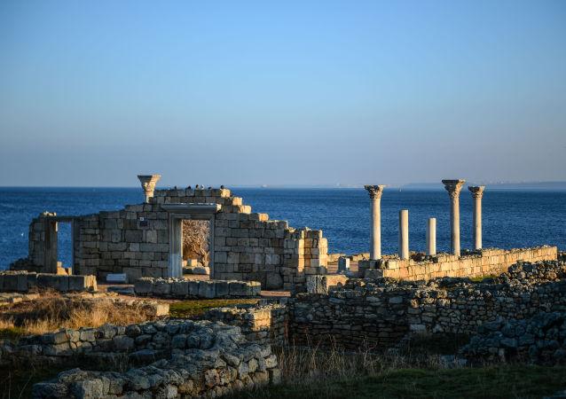 Ruines de la ville de Chersonèse en Crimée
