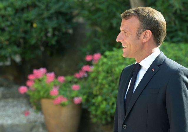 Emmanuel Macron au fort de Brégançon, le 19 août 2019