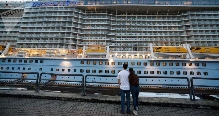 Le bateau de croisière Spectrum of the Seas à Vladivostok