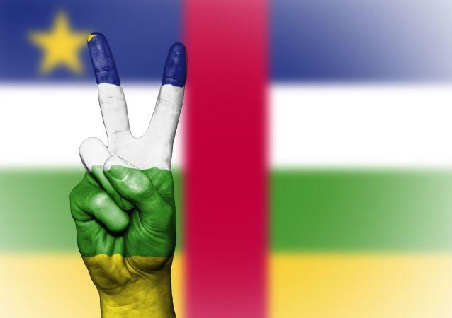 Drapeau centrafricain paix