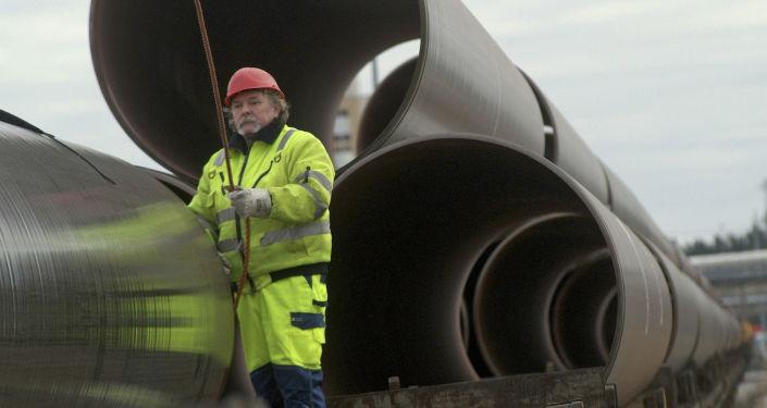 Les premiers tuyaux pour le gazoduc OPAL (photo d'archives)
