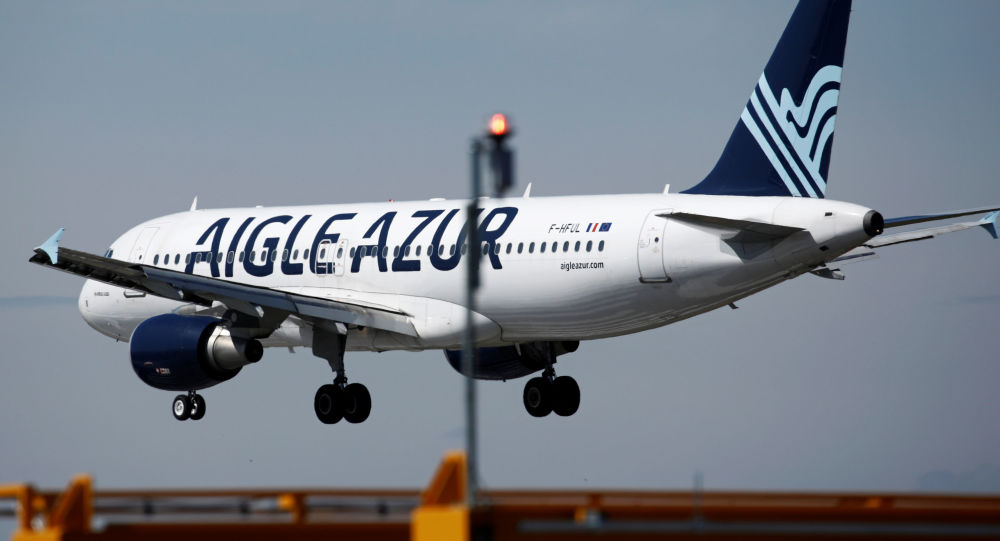 Un avion d'Aigle Azur