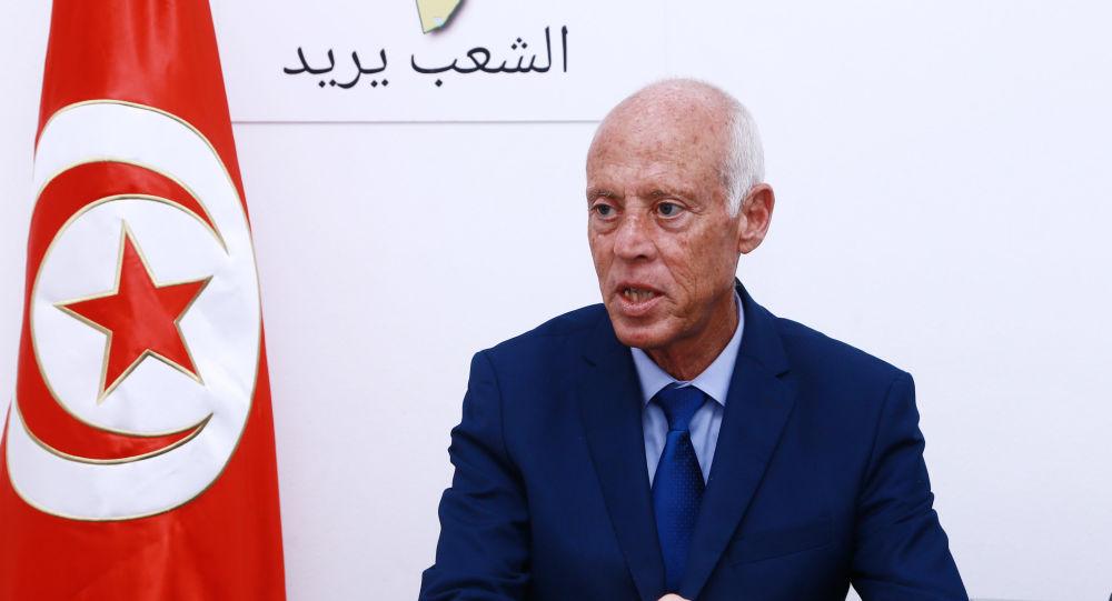 Le candidat indépendant à l'élection présidentielle tunisienne Kaïs Saïed