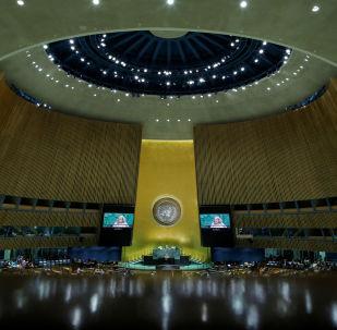 Une séance de l'Assemblée générale des Nations unies