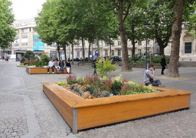 Un espace vert à Nancy