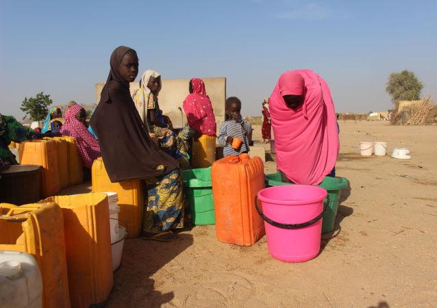 Au camp des déplacés de Igawa meme, Extrême-Nord du Cameroun