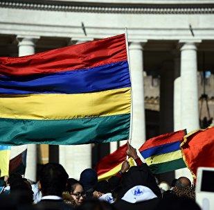 Le drapeau de la République de Maurice