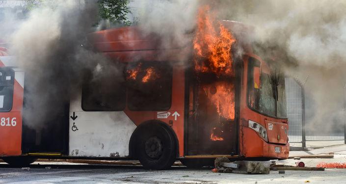 émeutes à Santiago