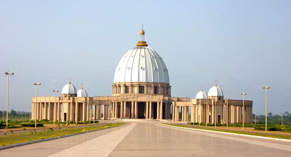 Basilique Notre-Dame de la Paix à Yamoussoukro, Côte d'Ivoire