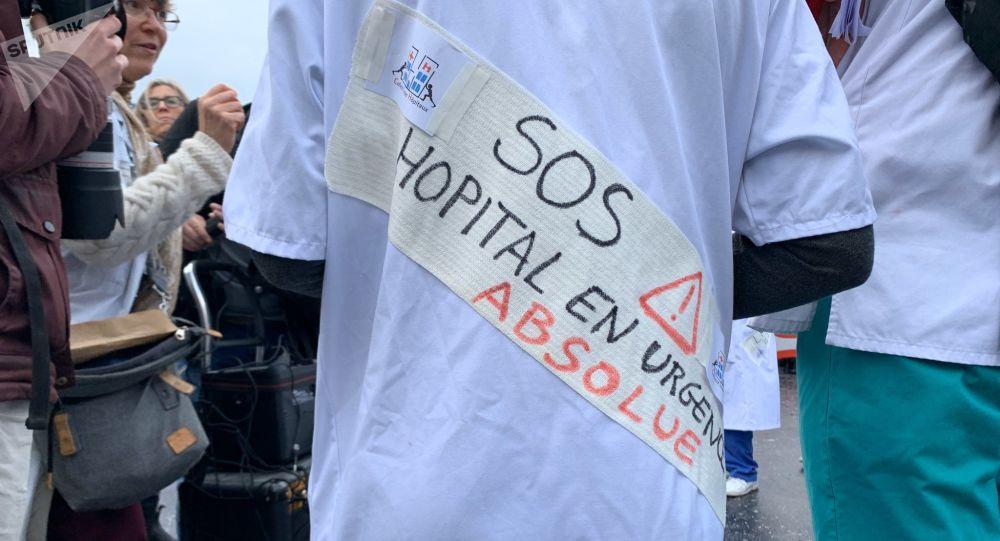 Mobilisation des hospitaliers pour alerter sur la situation de l'hôpital public, 29 octobre 2019