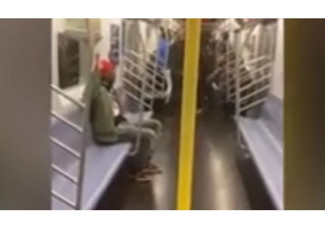 Pas moins de dix policiers font irruption dans le métro de NYC pour arrêter un resquilleur