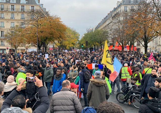 Marche antiislamophobie à Paris