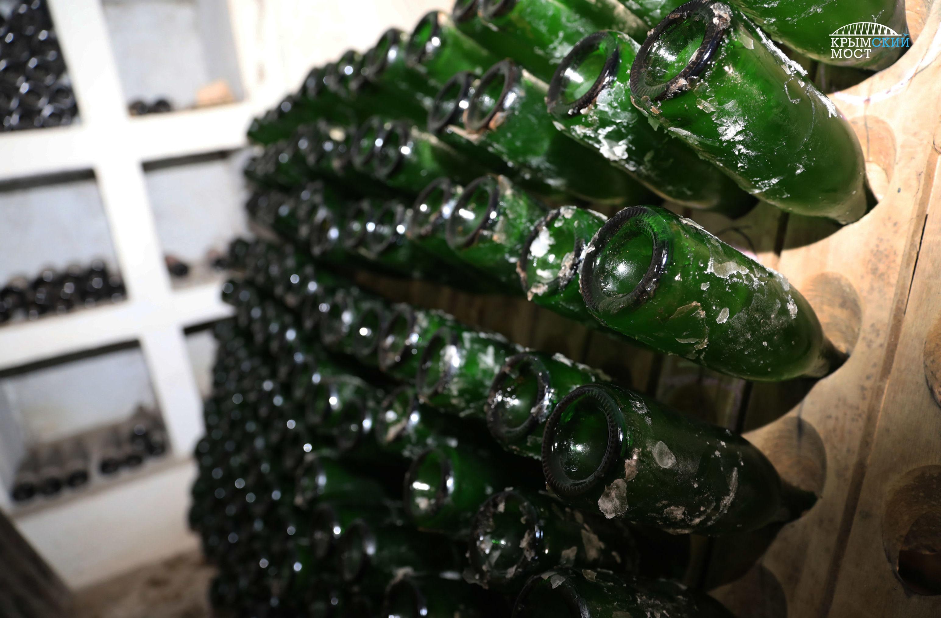 Les bouteilles de vin Le pont de Crimée