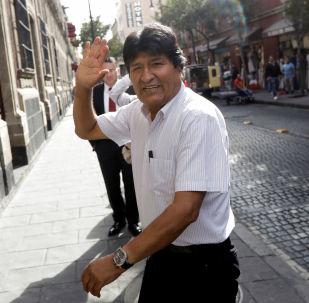 Evo Morales en la Ciudad de México