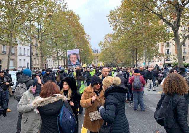 Gilets jaunes à Paris, image d'illustration