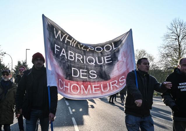 Manifestation des anciens salariés de Whirlpool à Amiens