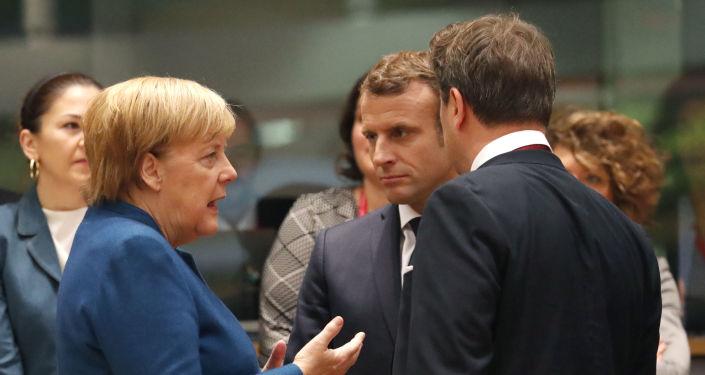 Angela Merkel et Emmanuel Macron à Bruxelles (archive photo)