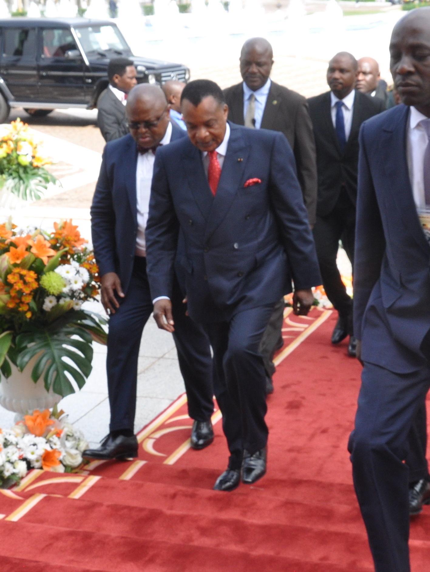 Le Président congolais Denis Sassou Nguesso au sommet extraordinaire de la Cemac.