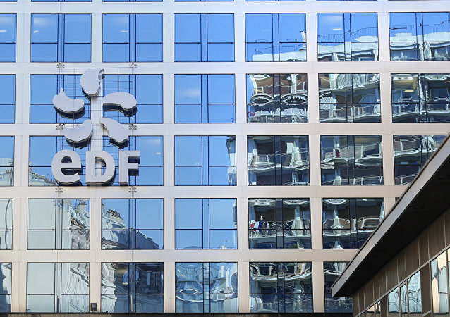 The logo of France's state-owned electricity company EDF is seen on the company's headquarters in Paris, France, February 16, 2016