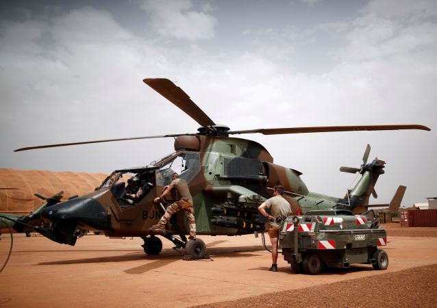 Un hélicoptère français Tigre au Mali (photo d'archives)