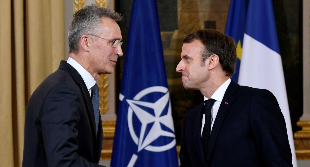 Emmanuel Macron et Jens Stoltenberg